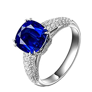 Preciosos anillos de oro blanco 24k