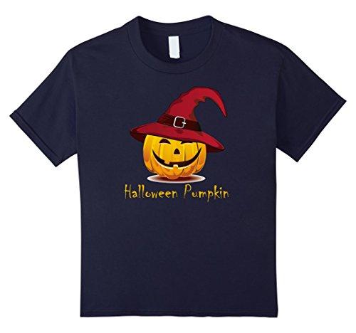 Kids Scary Halloween Pumpkin Shirt Halloween costume hot new 2017 12 Navy (Hot Halloween Costumes For 2017)