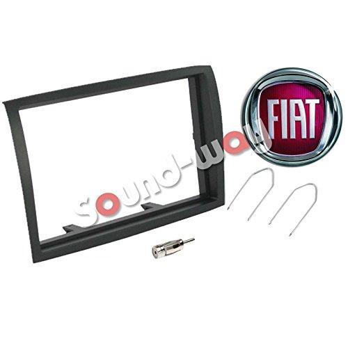Sound Way Kit Montaggio Mascherina Adattatore connettore autoradio 2 DIN Fiat Ducato//Citroen Jumper//Peujeot Boxer dal 2006