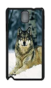 Fashion Style With Digital Art - Gray Wolf Skid PC Back Cover Case for Samsung Galaxy Note 3 N9000