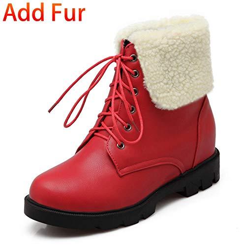 Fur Casuales Dropship Martin Zapatos Red Pieles Ocio De Agregar Botas Fashion Hoesczs Mujer Add 2018 Calientes Botines wCvq5a