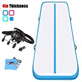KIKILIVE Air Track Tumbling Mat, 4inches/8inches Thickness Length Between 10ft to 39 ft Inflatable Gymnastics Airtrack Mat, Air Floor Mat with Electric Air Pump for Training/Cheerleading