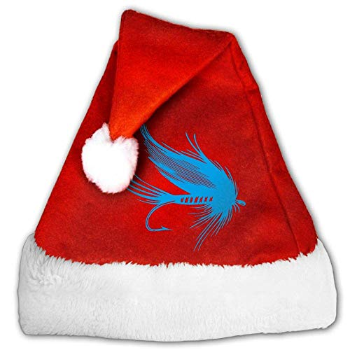 Red and White Christmas Hat, Cute Fly Fishing Lure Christmas Headbands for Childrens and Adults
