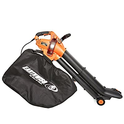 EarthWise FieldSmith by 12-Amp Corded 3-in-1 Wheeled Blower, Vacuum and Mulcher - Orange