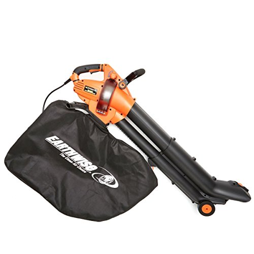EarthWise FieldSmith by 12-Amp Corded 3-in-1 Wheeled Blower, Vacuum and Mulcher - Orange by EarthWise