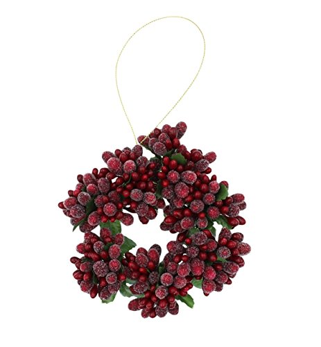 4″ Beaded Berry Candlering Candle Ring for Votive Candle Christmas Red