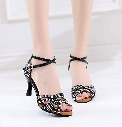 UK UK Caviglia alla Sandali alla Red 5 ZHRUI ZHRUI ZHRUI Cinturino Heel 5cm Cinturini Dimensione Caviglia Black 7 e da Colore Donna 6 6cm Heel con pxqvU