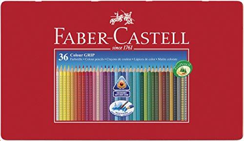 Faber-Castell Tin of 36 Colour GRIP 2001 pencils