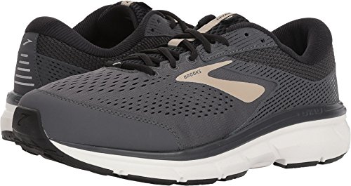 Brooks Men's Dyad 10 Grey/Black/Tan 12 D US