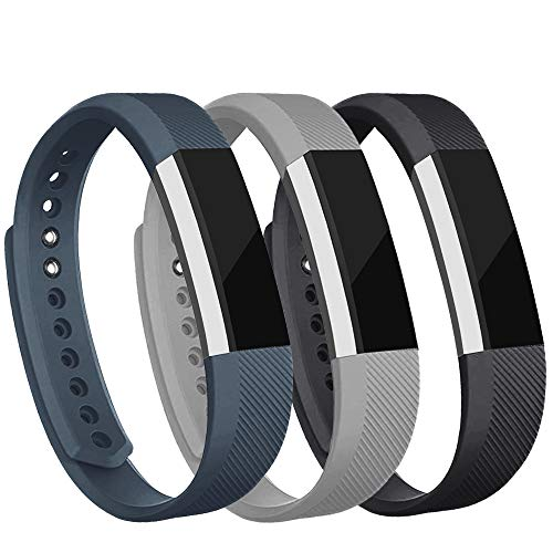 - iGK Replacement Bands Compatible for Fitbit Alta and Fitbit Alta HR, Newest Adjustable Sport Strap Smartwatch Fitness Wristbands with Metal Clasp Black Gray Slate Small