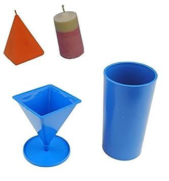 Proops - Juego de 2 moldes para velas Pilar, 1 x, 1 x Pyramid (s7569). Color negro: Amazon.es: Hogar