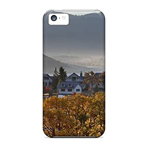 For Iphone Case, High Quality Farm In The Mist For Iphone 5c Cover Cases