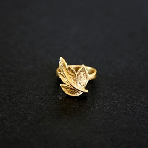 handmade-disgner-14k-gold-plated-delicat-leaf-ring