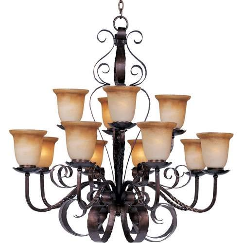 Maxim Lighting Aspen Oil Rubbed Bronze 12-Light Chandelier 20614VAOI
