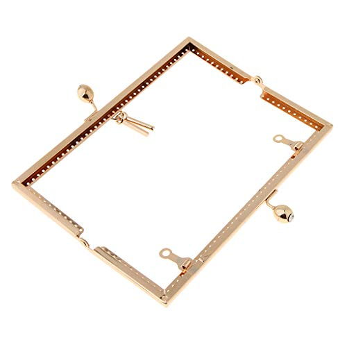 SM SunniMix Women Gold DIY Purse Handbags Handle Coins Bags Metal Kiss Clasp Lock Frame Craft 20.5 cm