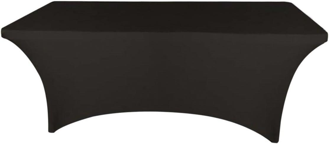 Banquet Tables Pro Black 6 ft. Rectangular Stretch Spandex Tablecloth