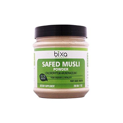 Safed musli Powder - 200g (7 Oz) (Chlorophytum Borivillianum)   Best Herb for Vitality Improve Physical Strength   Muscle Builder Herbal Supplement