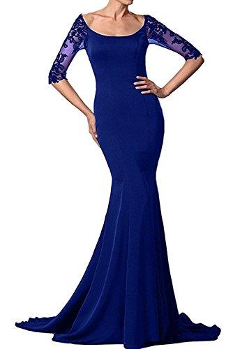 Meerjungfrau Braut Blau Brautmutterkleider Royal Abschlussballkleider Abendkleider Langes Damen Ballkleider La Marie xwvPT0qq5U