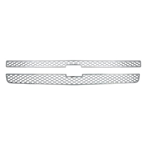 Bully  GI-40 Triple Chrome Plated ABS Snap-in Imposter Grille Overlay, 2 Piece (Chrome Chevy Pilot)