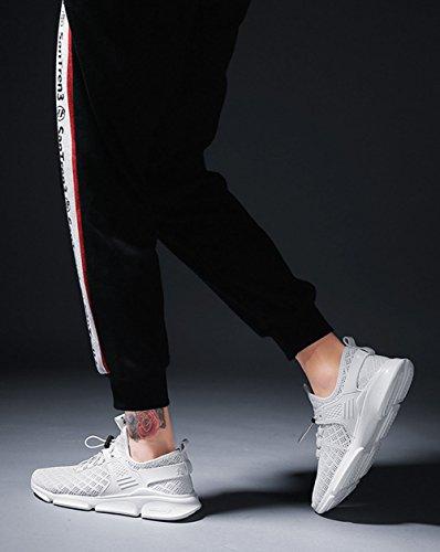 Uomo Scarpe Comfort Lovers Autunno 2018 CAI Hollow top Fashion corsa Sports Scarpe casual Sneakers tulle in viaggio da da Bianca Traspirante Donna Knit Scarpe Low casual Estate OxxpTWq