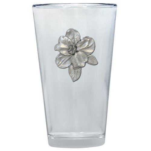 1pc, Pewter Apple Blossom Pint Glass ()