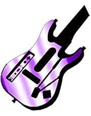 Purple Chrome Mirror Vinyl Decal Faceplate Mod Skin Kit for Nintendo Wii Guitar Hero 5 (GH5) World Tour by System Skins