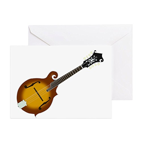 CafePress Just Mandolin Greeting Card, Note Card, Birthday Card, Blank Inside Matte
