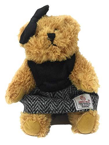 - Harris Tweed Black Herringbone Dressed Scruffy Girl Bear