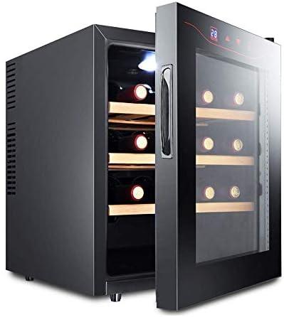 Lnspirationalギフトインテリアアクセサリー飲料冷蔵庫16ボトルビールワインラックワインドリンク冷蔵庫低エネルギーA +ステンレス鋼LEDディスプレイデジタルスマート小型家電ホームキッチンブラック