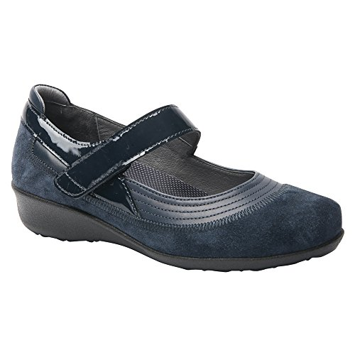Mary Genoa Combo Timeless Janes Drew Leather Navy Casual Shoe Women's qPzwnxY1