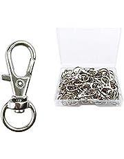 30 Pcs Metal Swivel Lanyard Snap Hook, Key Chain Swivel Hook Lobster Claw Clasp (Small Size)