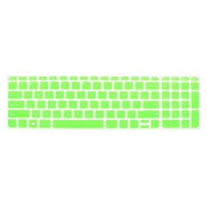eDealMax La cubierta del teclado de silicona Proteja Shell Verde Para HP Pabellón 15 del ordenador