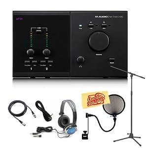 m audio avid pro tools mp plus fast track c400 4x6 recording interface studio bundle. Black Bedroom Furniture Sets. Home Design Ideas
