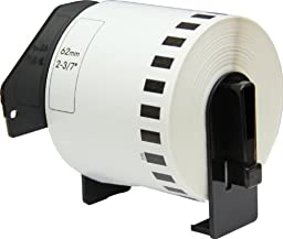 OfficeSmart 2-3/7 x 100 Feet Continuous Labels, Labels Cut by User, Compatible with the following Brother P-Touch Label Printers (DK2205F)