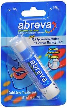 Prescription Cold Sore Treatment - Abreva Cold Sore/Fever Blister Treatment Pump - 0.07 oz, Pack of 2
