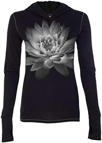 Yoga Clothing For You Ladies Lotus Flower Tri-Blend Hoodie