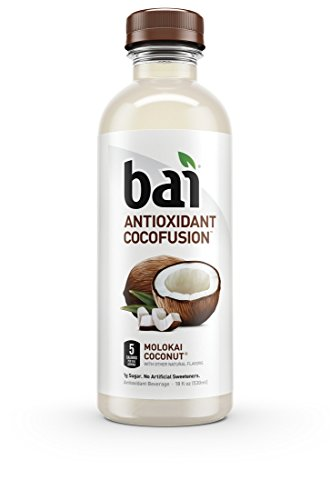 Bai Cocofusions Molokai Coconut, Antioxidant Infused, Coconut Flavored Water Drink, 18 Fluid Ounce Bottles, 6 count