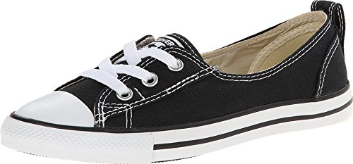 Converse Womens Chuck Taylor All Star Ballet Lace Canvas Slip Shoes 9 US Black