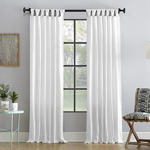 Archaeo Washed 100 Cotton Twist Tab Curtain, 52 x 108 Panel, White