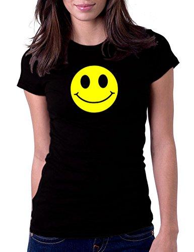 Smiley Face Classic - Womens Tee T-Shirt, XL, Black
