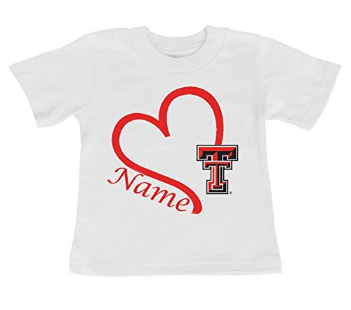 (Future Tailgater Texas Tech Red Raiders Personalized Heart Baby/Toddler T-Shirt (3T))