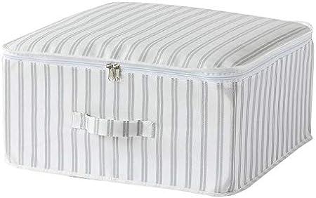 Compactor Set de 3 Gama Anton-Caja con Cremallera L   45x46x20,5 cm   Sin Tejido 75 g   Color: Estampado Blanco y Gris, 45 x 46 x 20,5 cm: Amazon.es: Hogar