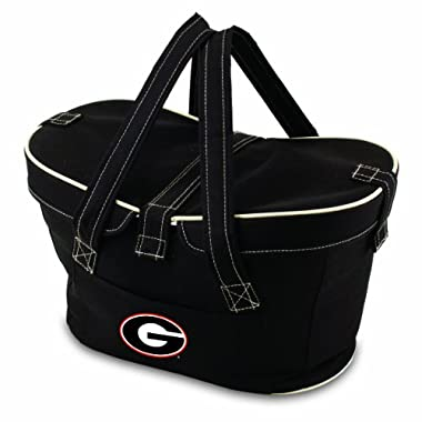 NCAA Georgia Bulldogs Mercado Insulated Cooler Basket, Black