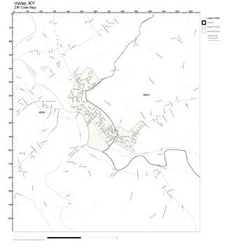 Amazon.com: ZIP Code Wall Map of Irvine, KY ZIP Code Map ...