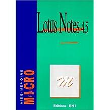 Lotus notes utilisateur 4.5