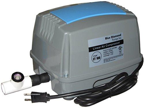 ET100 Septic Air Pump w/Back Pressure Safety Valve (Maximizes Aerator Service Life)