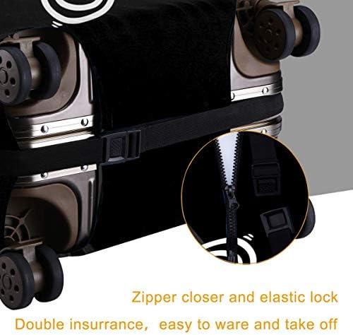 スーツケースカバー キャリーカバー ネコ柄 ラゲッジカバー トランクカバー 伸縮素材 かわいい 洗える トラベルダストカバー 荷物カバー 保護カバー 旅行 おしゃれ S M L XL 傷防止 防塵カバー 1枚