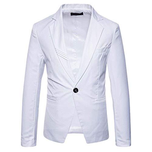 One Button Chaqueta Blazer Traje Blanco Party Slim De Vintage Hombre Fit q6z68STP