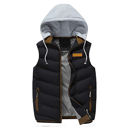 Moserian Coat for Men Autumn Winter Coat Padded Cotton Warm Hooded Thick Vest