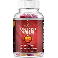BeLive Apple Cider Vinegar and Ginger Gummies with The Mother - Detox, Cleanse, Bloating Relief & Appetite Suppressant for Women, Men, and Kids - 1 Month Serving